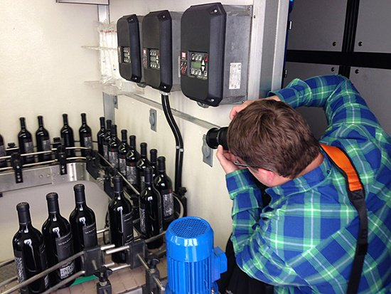 Mobile wine bottling truck