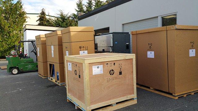 HP 8000 digital press delivery