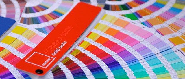Label design and pantone colors