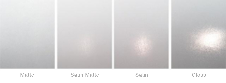 matte, satin, gloss label varnish examples
