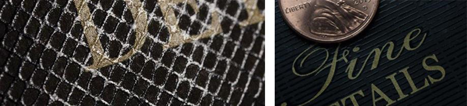 tactile pattern varnish for labels