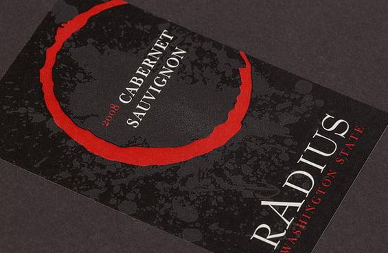 wine product label