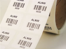 sequential number barcode labels