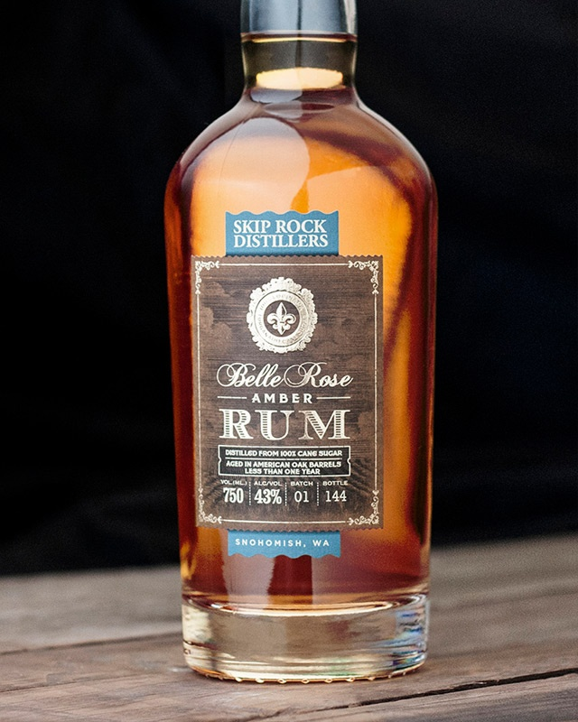 Skip Rock Distillery Rum label