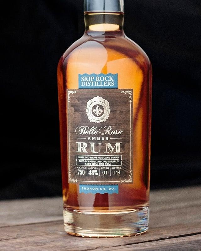 Skip Rock Distillery Rum label