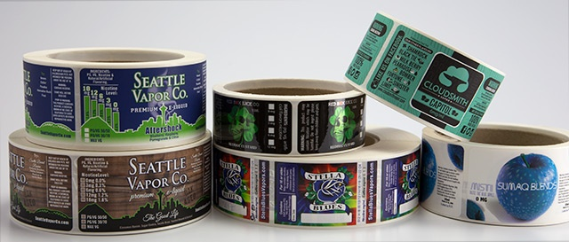 High quality eliquid labels on rolls