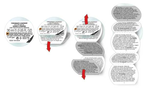 5 Panel Booklet Label