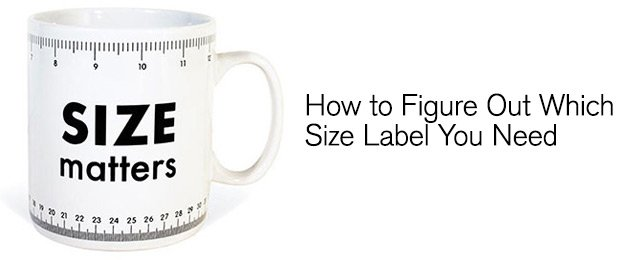 Measuring for label size