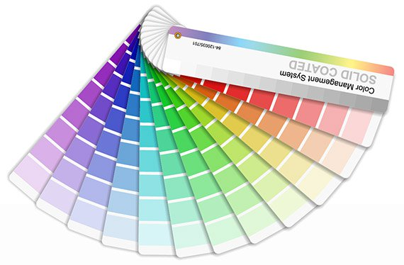 color chart label printing