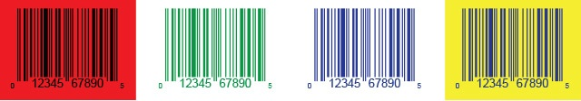 Barcode colors on label design
