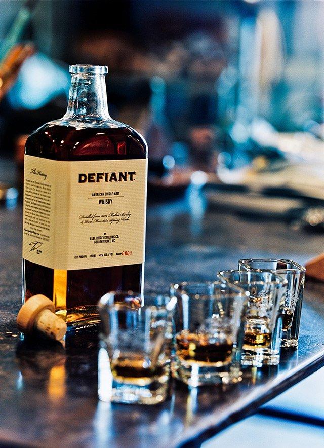 Defiant Whiskey Labels, Blue Ridge Distilling