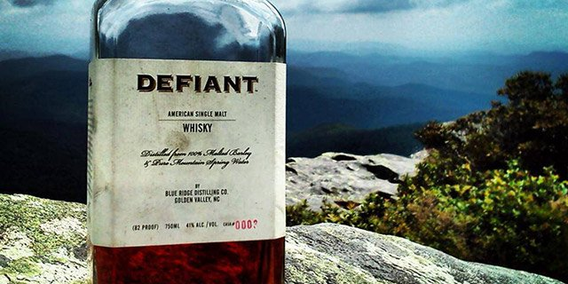 Defiant Whiskey label in the wild