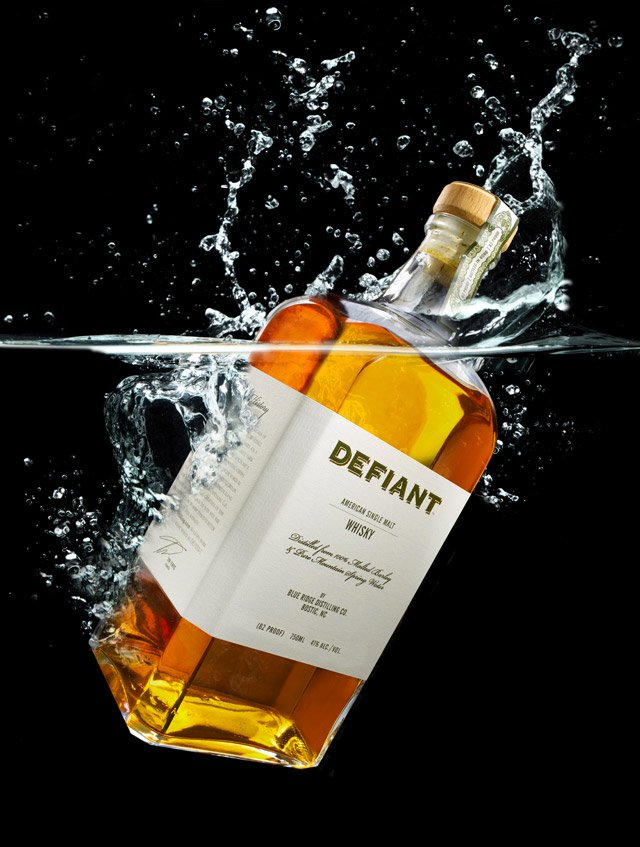Defiant Whisky label feature