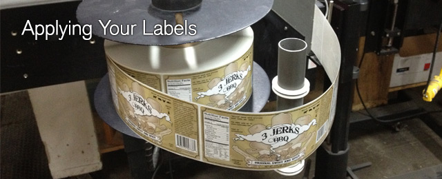 Applying your labels by hand or machine applying labels