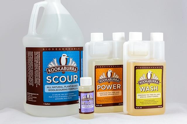 Kookaburra cleaning product labels