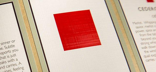Linen pattern emboss