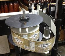 Machine applied label rolls