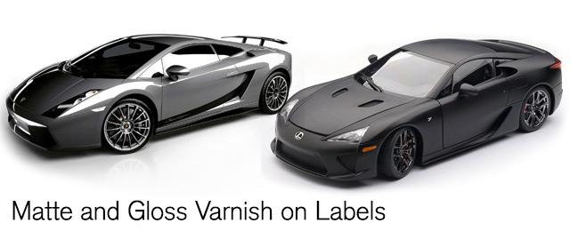 Matte vs. Gloss label varnish