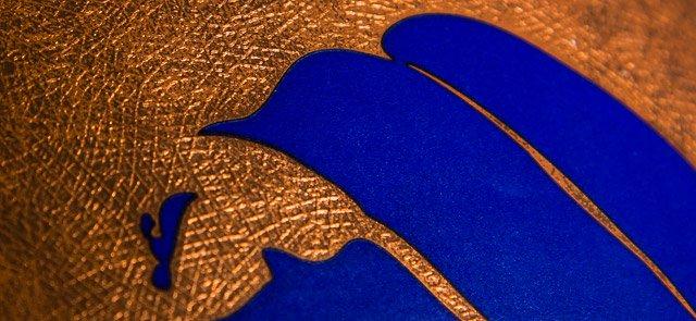 Custom metallic emboss pattern