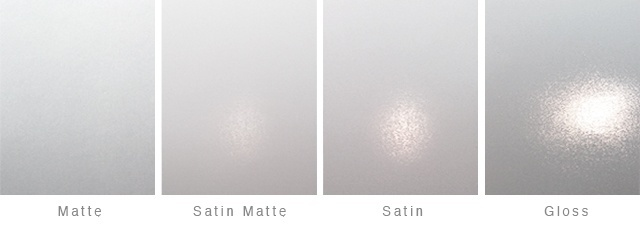 matte, satin, gloss, and semigloss varnishes for labels