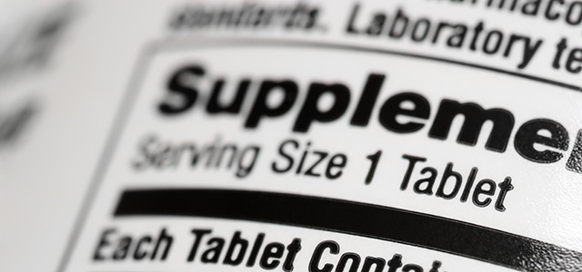 Tabular labels for FDA Supplement Facts