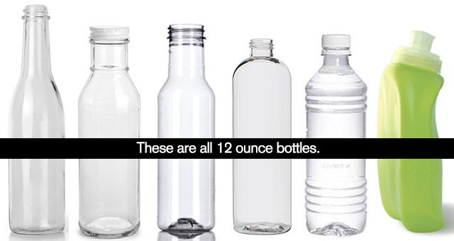 There are no standard 12oz bottles