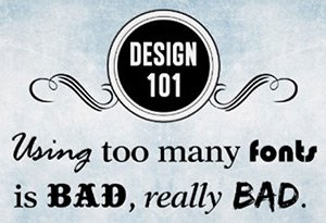 Too many fonts on your labels