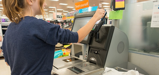 Self checkout and barcode labels
