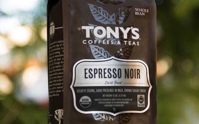Good visual hierarchy - Tony's Coffees & Teas