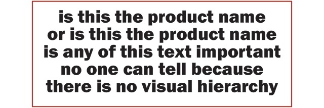 Visual hierarchy explained