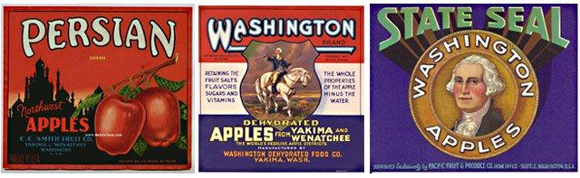 Washington apple crate labels