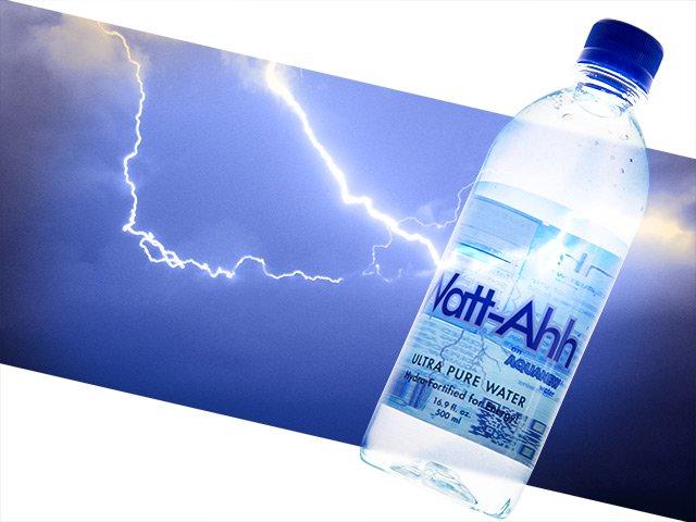 Watt-Ahh Ultra Pure Water Bottle Label