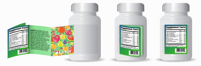booklet labels, nutritional supplement labels